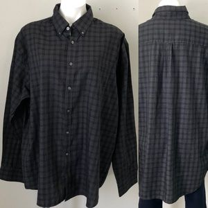 4/$20 Black Plaid Tone-on-Tone Dress Shirt